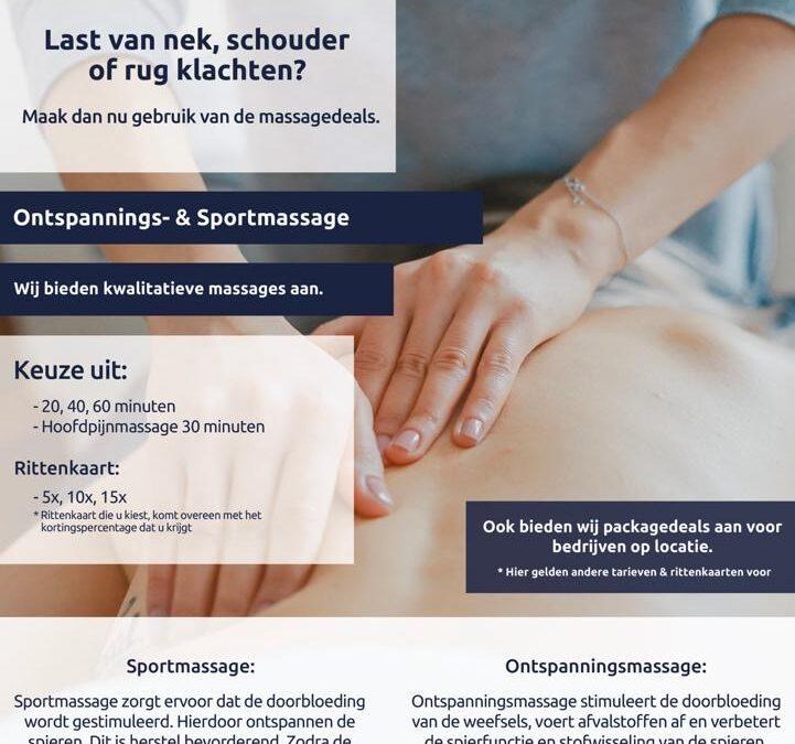 Massage deals 2020